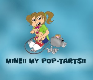 girl eating pop tarts