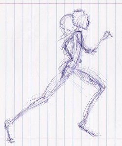 sketch of runner