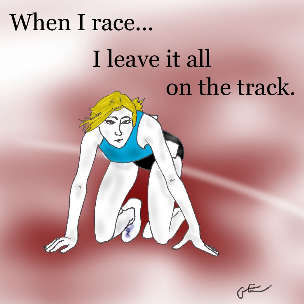 girl on track