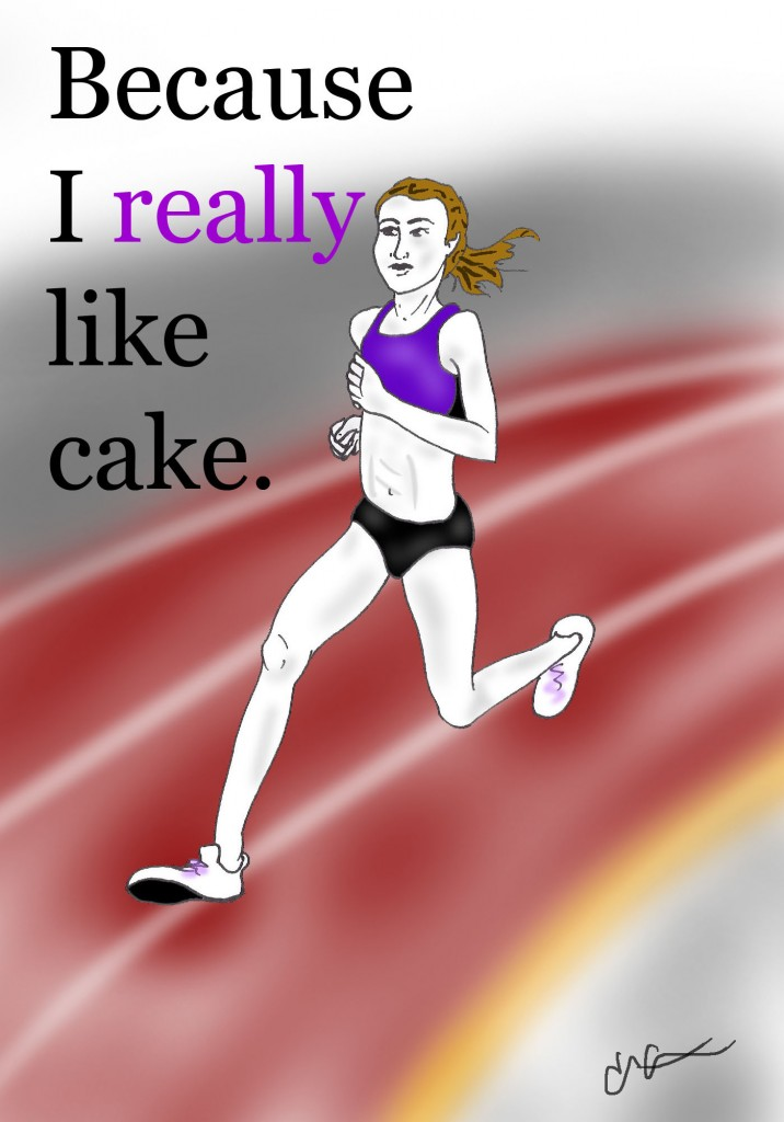 running for cake