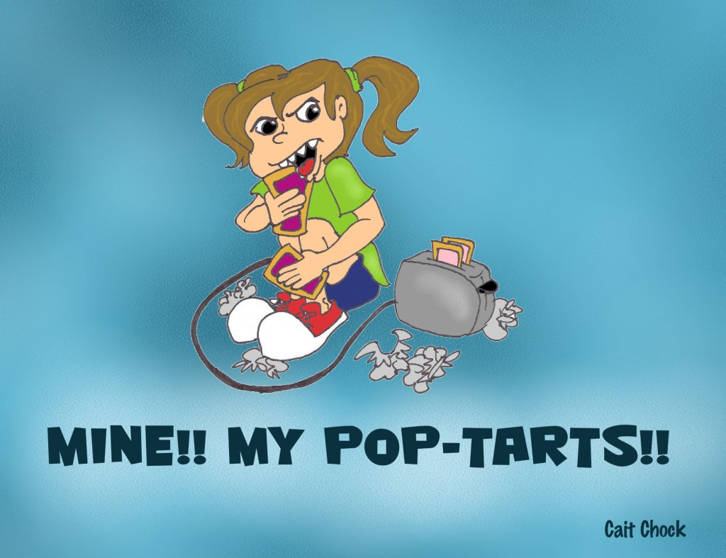 eating pop-tarts