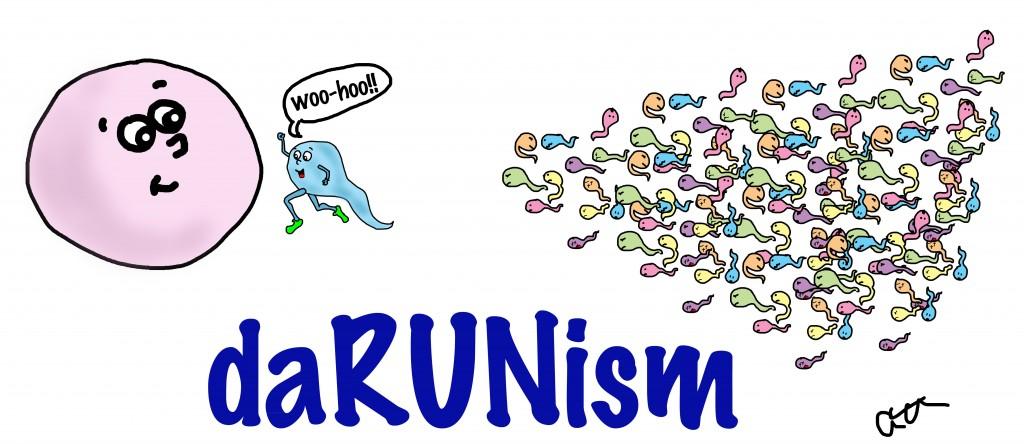 running sperm