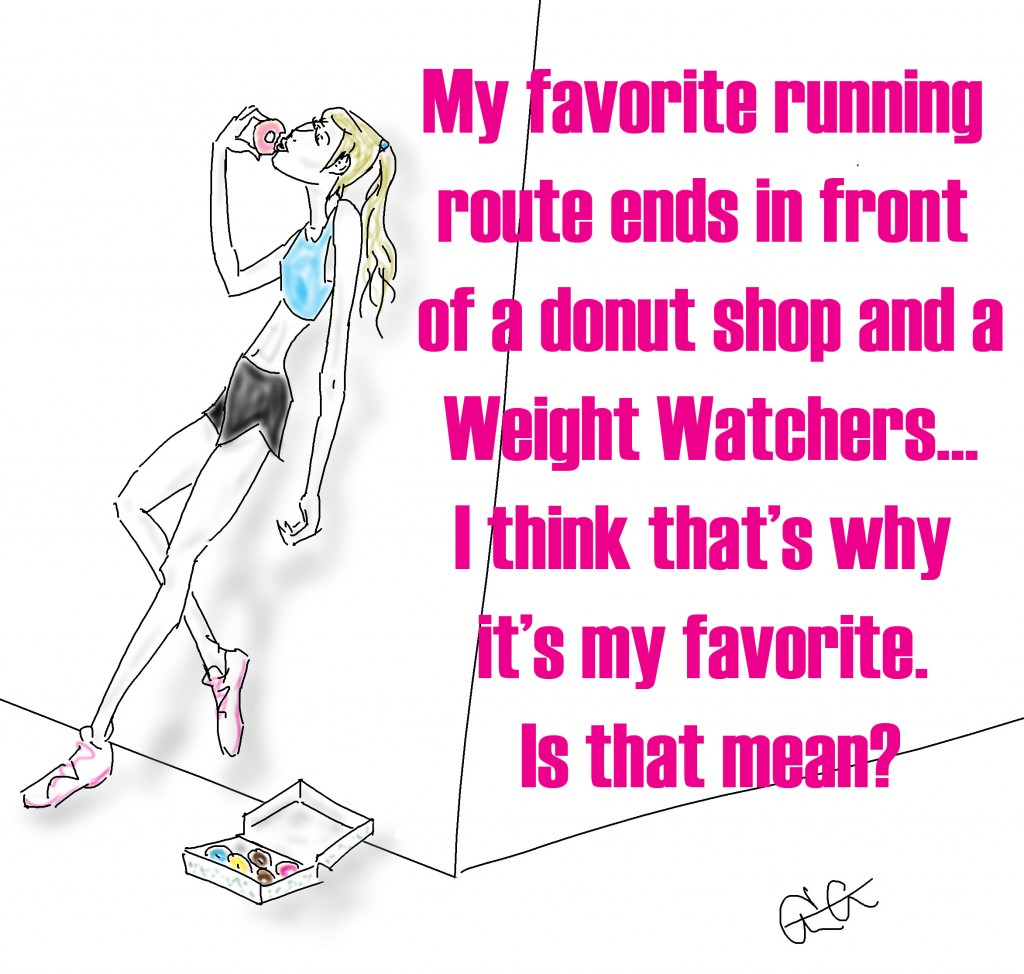runner eating donuts