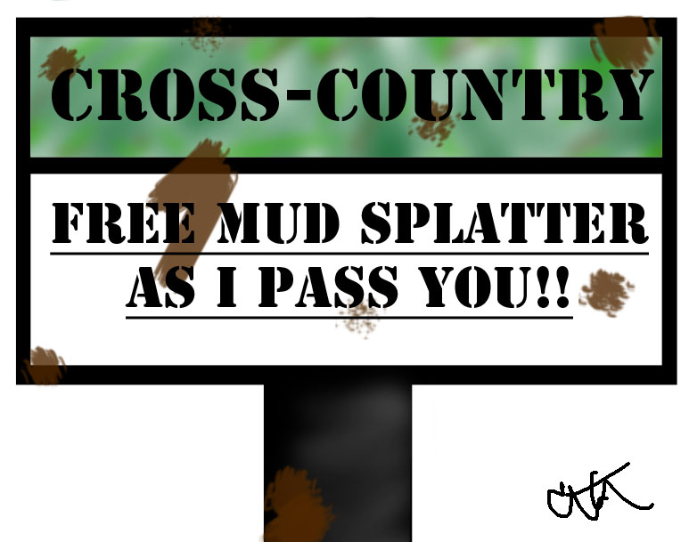 cross country running sign
