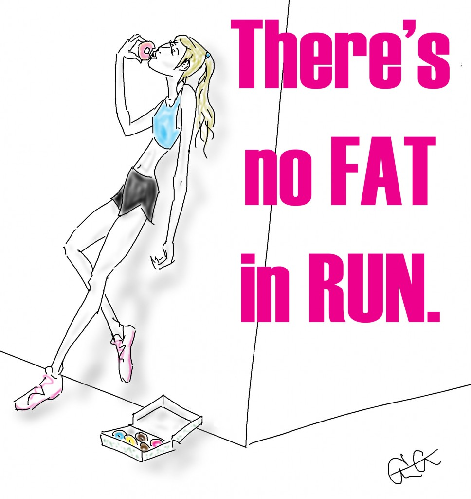 no fat in running