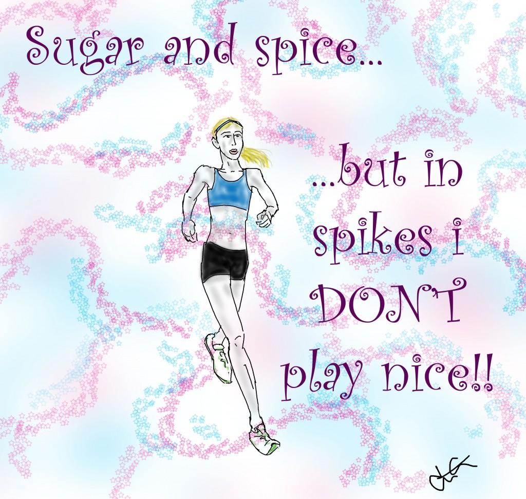 runner in spikes
