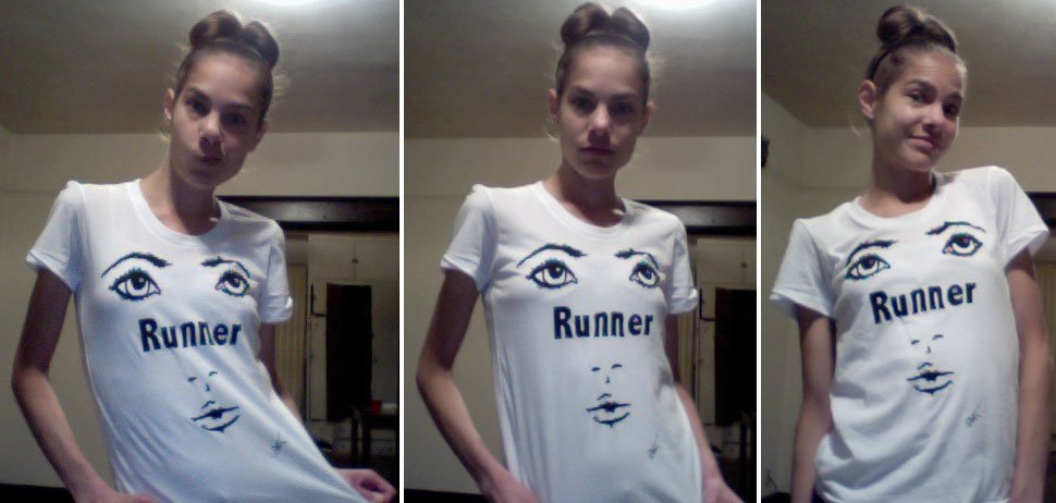 runner face shirt