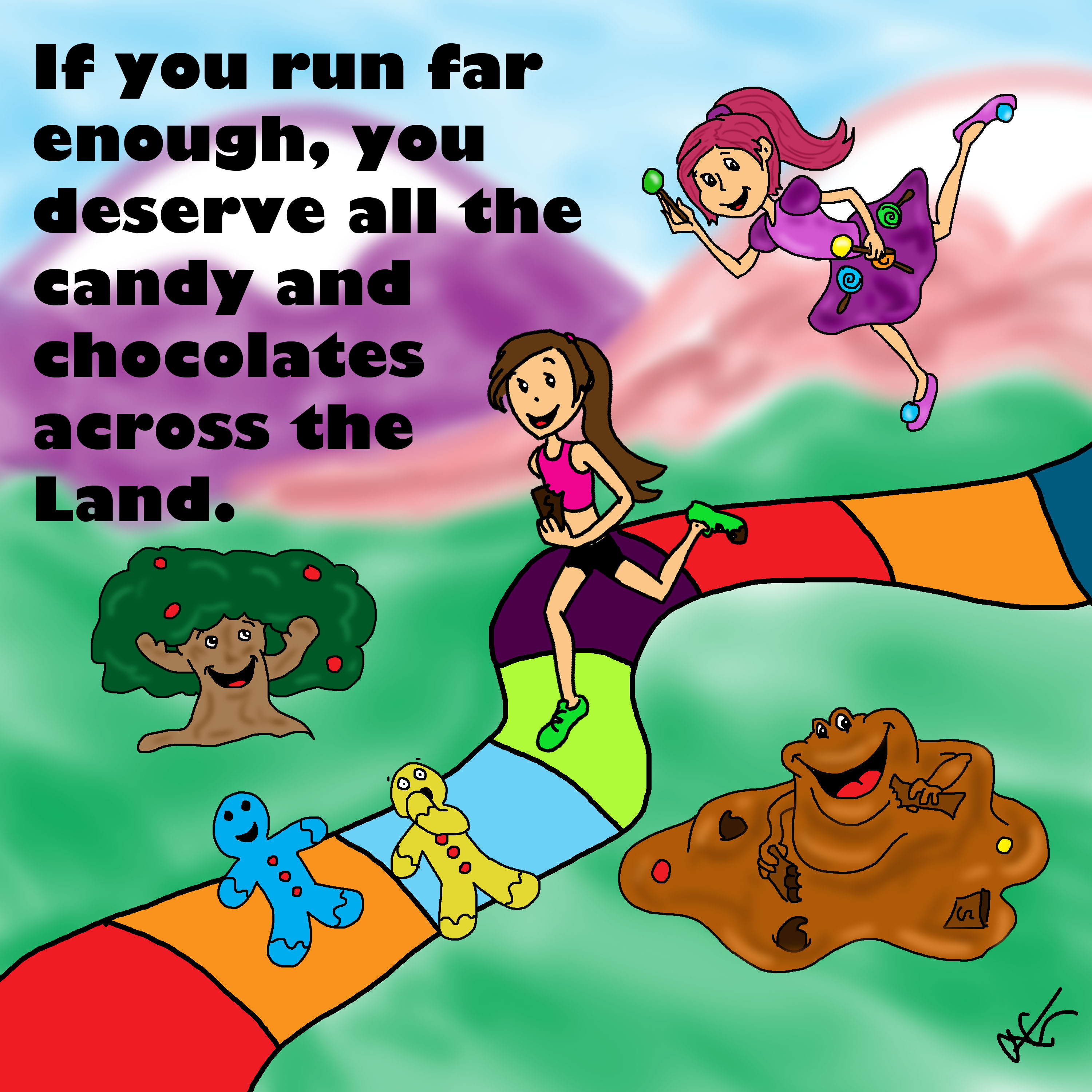 running in candyland