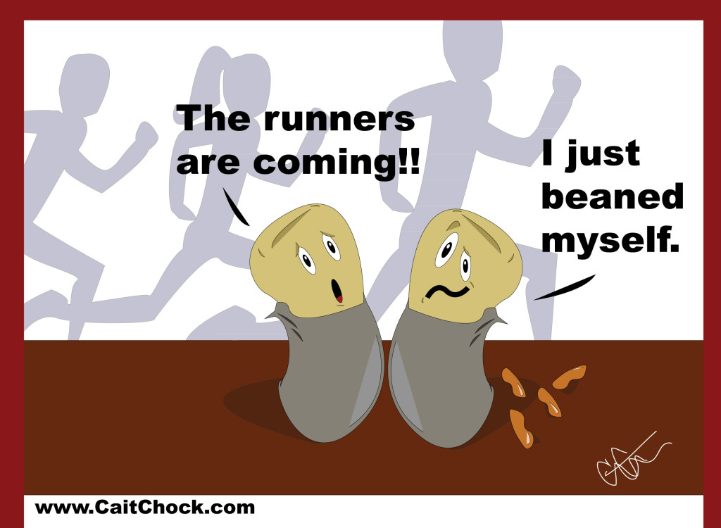 runners eating burritos