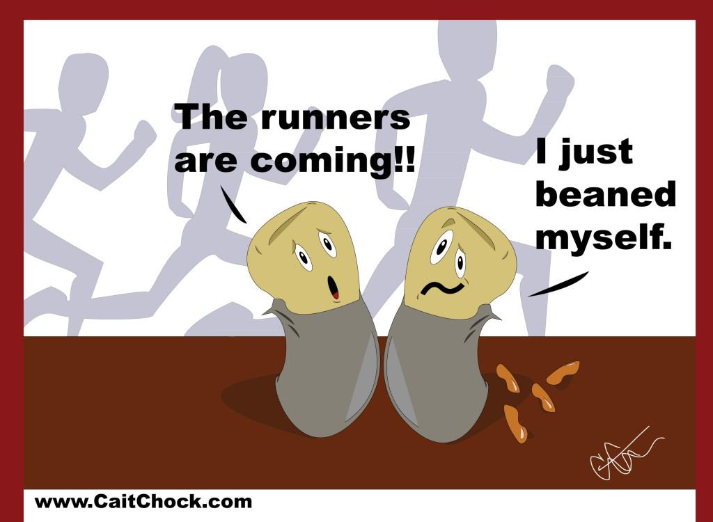 runners eating burritos