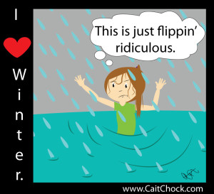 running through the rain cartoon