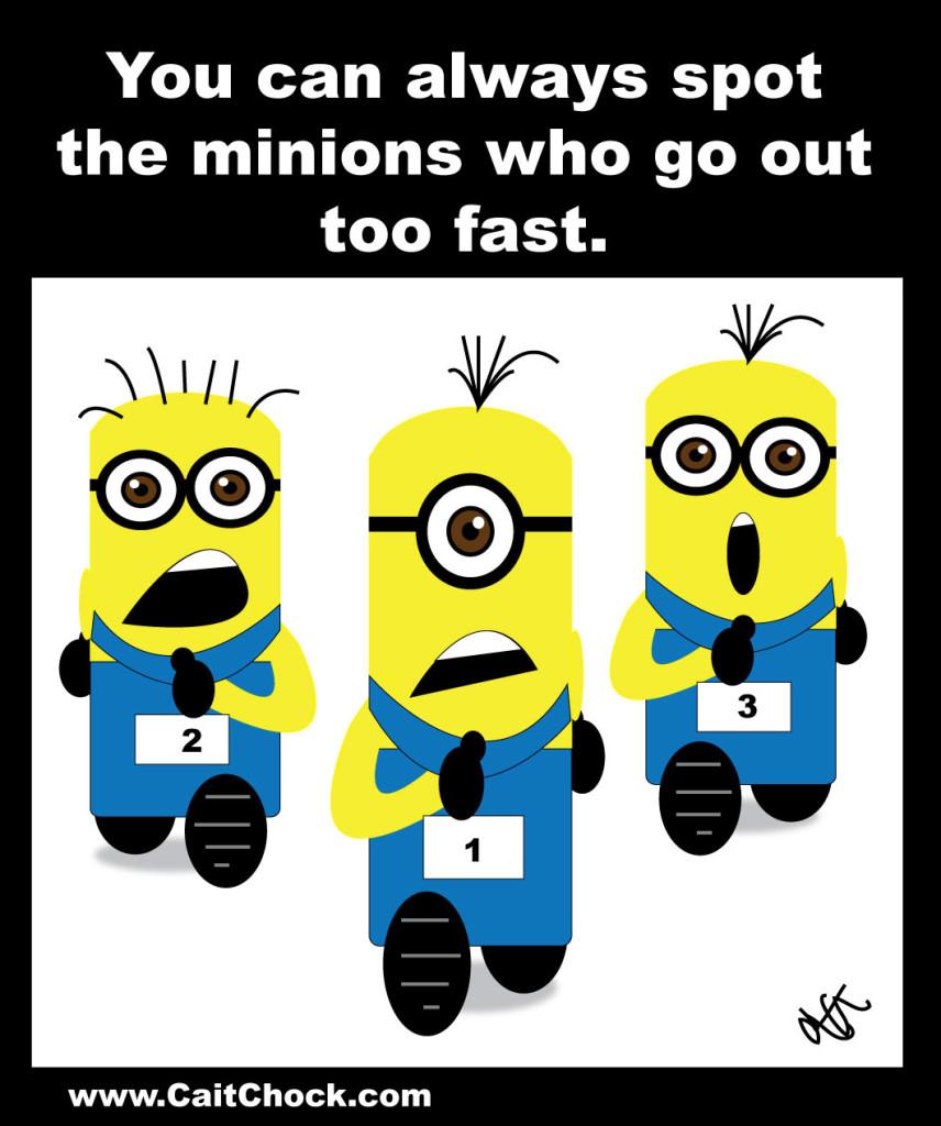 minions running a race