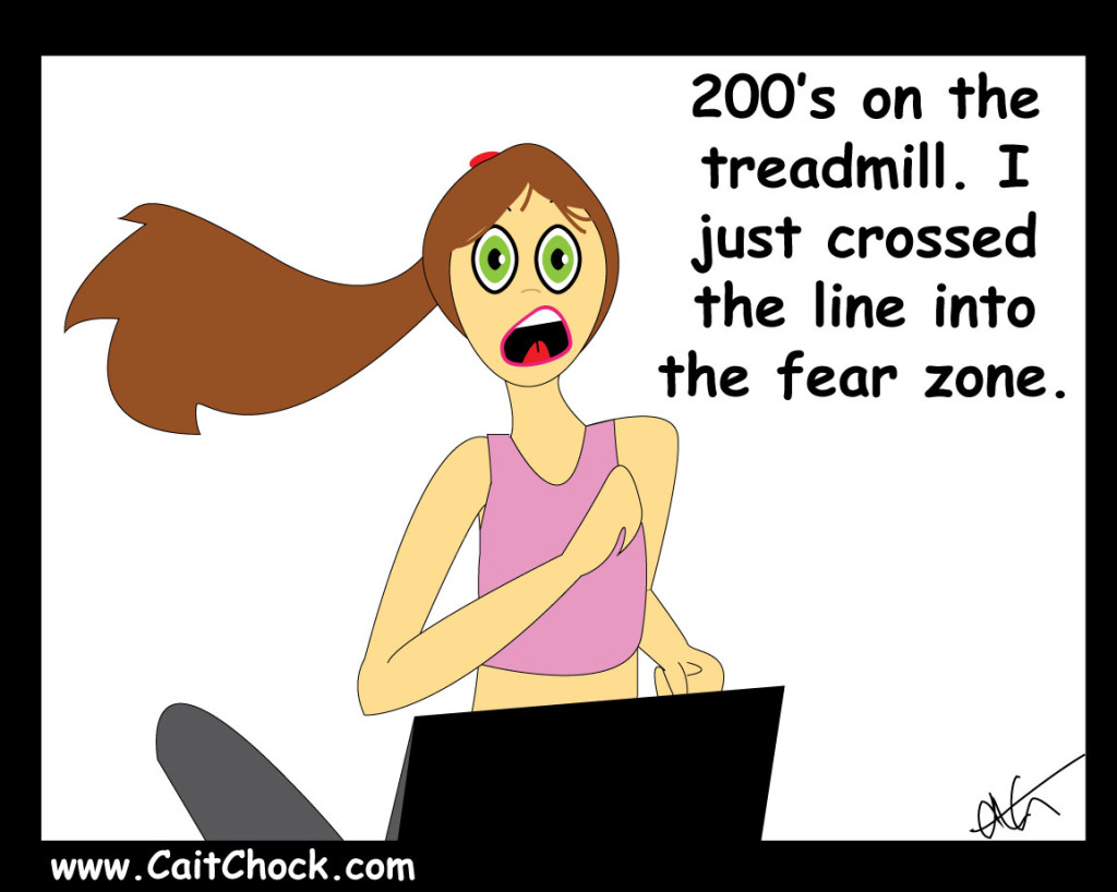 fear of flying off the treadmill