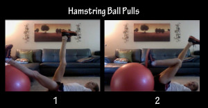 hamstring ball pulls core exercise for runners