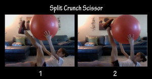 split crunch scissor