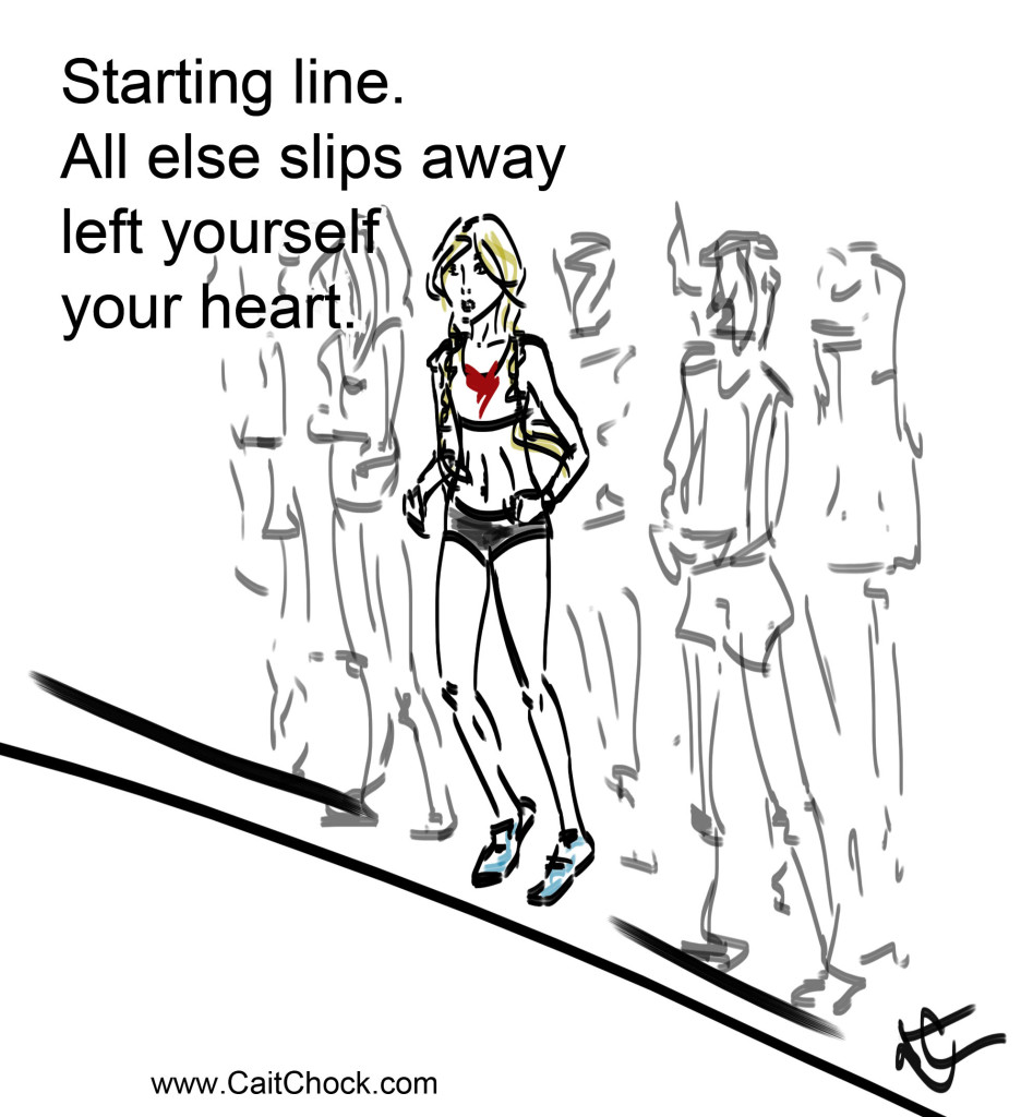 runner starting line art