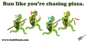 teenage mutant ninja turtles running