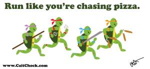 teenage mutant ninja turtles running
