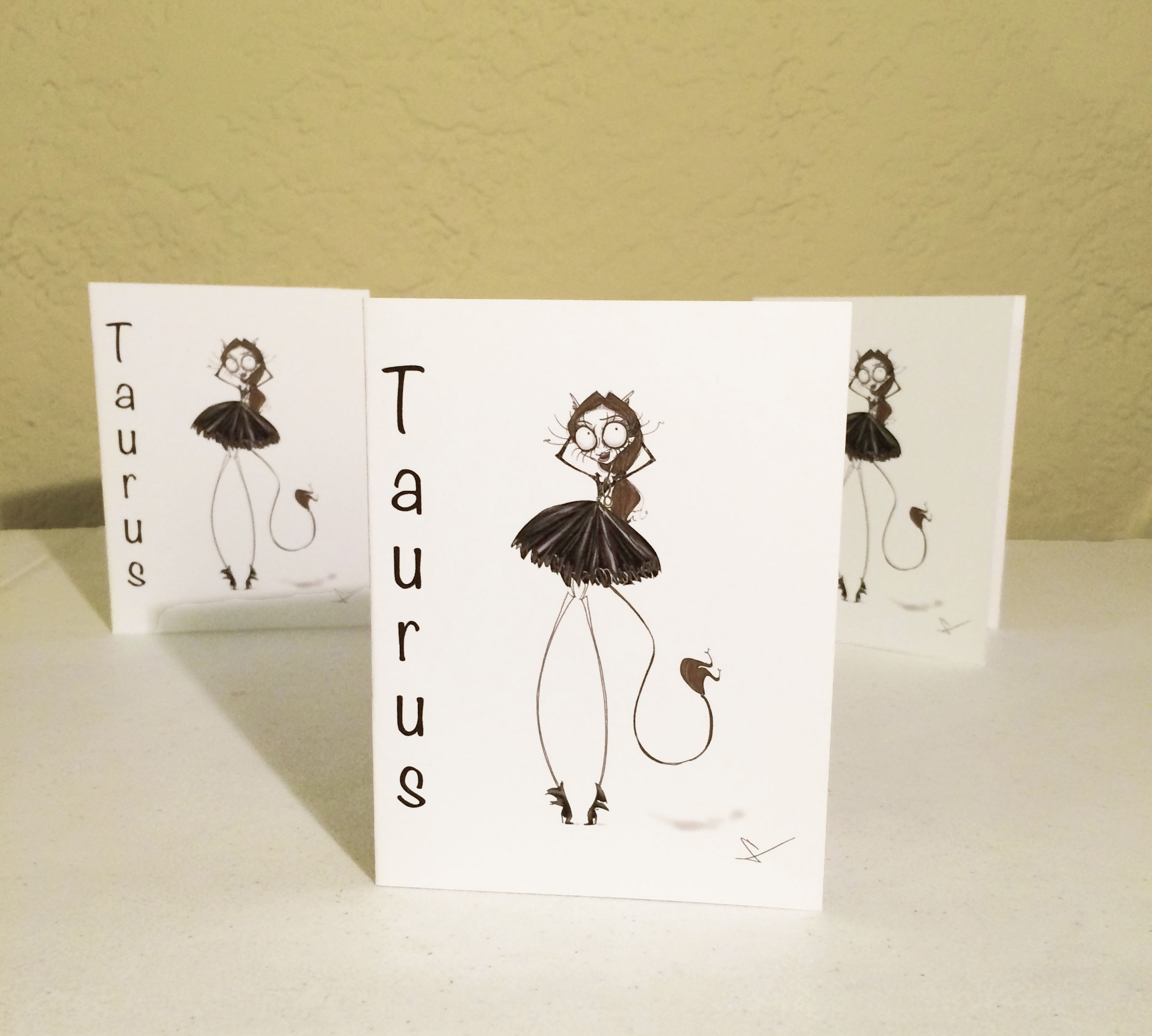 taurus zodiac sign card art
